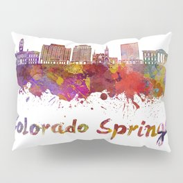 Colorado Springs V2 skyline in watercolor Pillow Sham