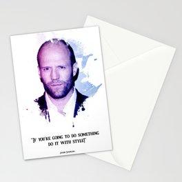 Jason statham quotes Stationery Cards