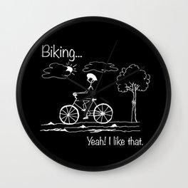 Biking... Yeah! I like that. Wall Clock