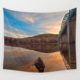 Point of Rocks Sunset - Pastel Fantasy Wall Tapestry