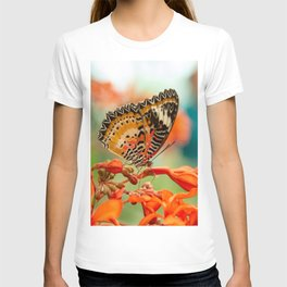 Leopard Lacewing Butterfly T-shirt