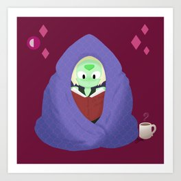 Peri in a blanket Art Print