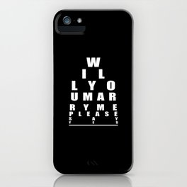 Wedding Proposal Gift Will You Marry Me  iPhone Case