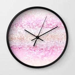 Unicorn Girls Glitter #2 #shiny #pastel #decor #art #society6 Wall Clock