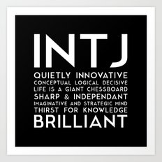 INTJ (black version) Art Print