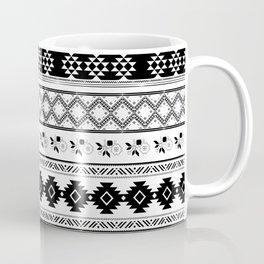 Black & White Primitive Pattern Coffee Mug