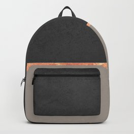 Neutral gold color block Backpack