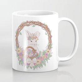 Easter Bunny Floral Wreath Coffee Mug