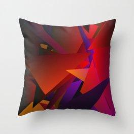 Smoke Screen Abstract 6 Throw Pillow