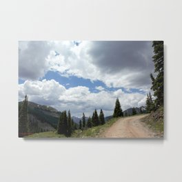Black Bear Pass Road - Panorama from a Crest Metal Print