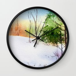 Winter Forest 1 Wall Clock