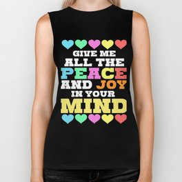 Spread the Love with this Peace of mind Tshirt Design Give me all the peace Biker Tank