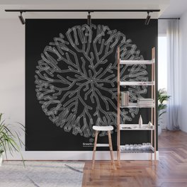 GEOMETRIC NATURE: CORAL b/w Wall Mural