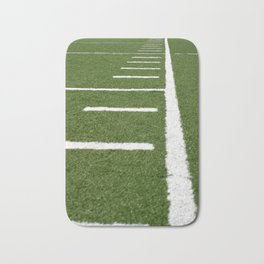 Football Lines Bath Mat