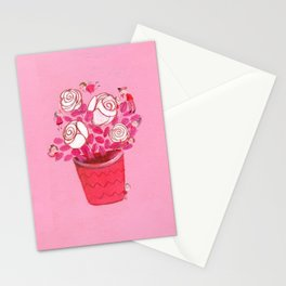 Beautiful White Lilies Stationery Cards