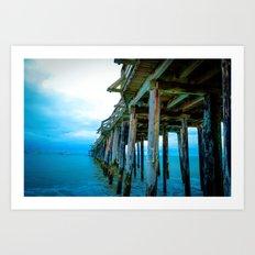 Capitola Pier Art Print