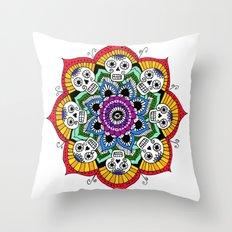 mandalavera de colores Throw Pillow