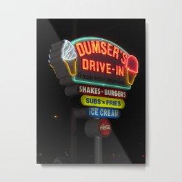 Ocean City MD Dumser's Drive-In Metal Print