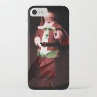 darwin iPhone & iPod Cases featuring Darwin/Santa by Ellen Lundgren