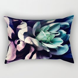 Pink Dahlia In the Last Rays of Sunset Rectangular Pillow