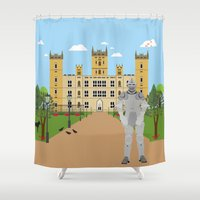 knight Shower Curtains featuring Knight by Design4u Studio