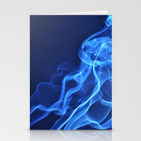smoky blue Stationery Cards