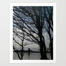 Trees along the River Thames, near Woolwich Art Print