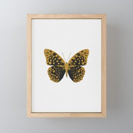 Black Butterfly Framed Mini Art Print