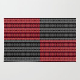 Presence of Anger in Red, Black, and Grey Rug