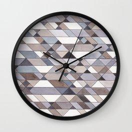 Triangle Pattern no.22 grays Wall Clock