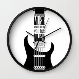 Lab No. 4 - Guitarist Inspirational Music Quotes Poster Wall Clock