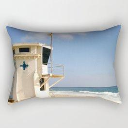 Laguna Beach Lifeguard Tower Rectangular Pillow