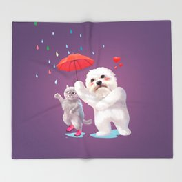 Fall in Love with Rain Throw Blanket