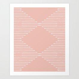 Geo / Blush Art Print