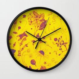 Rustic flower yeloow desing Wall Clock