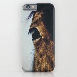 Horse photography, horses fine art, nature lovers, wild stallion, hasselblad iPhone Case