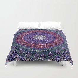 Blue Mandala Hippie Design Duvet Cover