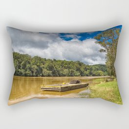 Pontoon on the Barron River Rectangular Pillow