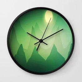 Shamrock Mountains Wall Clock