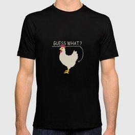 Guess What Chicken Butt Graphic T-Shirt Chicken Shirt T-shirt
