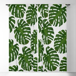 Monstera Leaf II Blackout Curtain