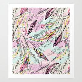 FEATHER MAGIC Art Print