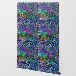 Multicolor Palm Leaves 2 Wallpaper