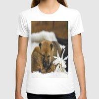 shiba inu T-shirts featuring Red Shiba Inu Puppy by Blue Lightning Creative