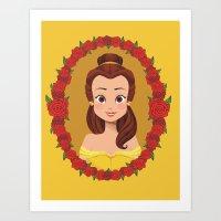 belle Art Prints featuring Belle by Joey Ellson