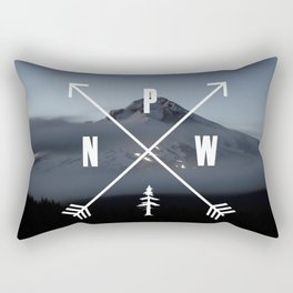 PNW Pacific Northwest Compass - Mt Hood Adventure Rectangular Pillow