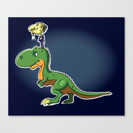 Tally ho dinosaur Canvas Print