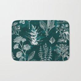 Turquoise Vintage Floral Bath Mat