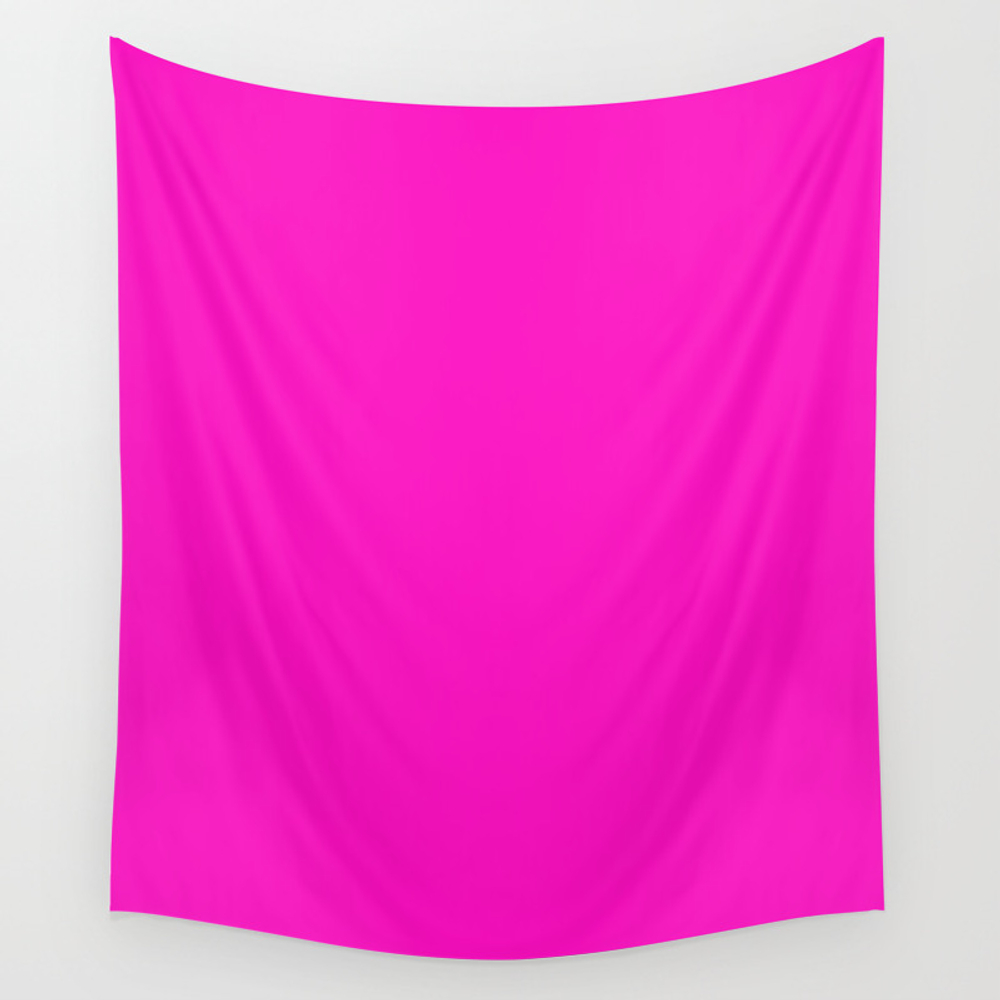 Shocking Pink - Solid Color Wall Tapestry by Makeitcolorful TPS8687689