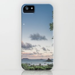 Chinamans Hat at Dusk on the island of Oahu, Hawaii iPhone Case